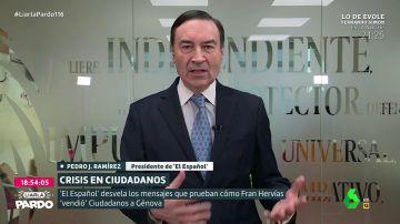 """Pedro J. Ramírez cuestiona la """"OPA hostil"""" del PP a Ciudadanos: """"Se está pasando de frenada"""""""