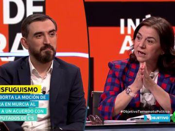 Debate entre Ignacio Escolar y Lucía Méndez: ¿hubo transfuguismo en Murcia? ¿Es igual que el 'Tamayazo'?