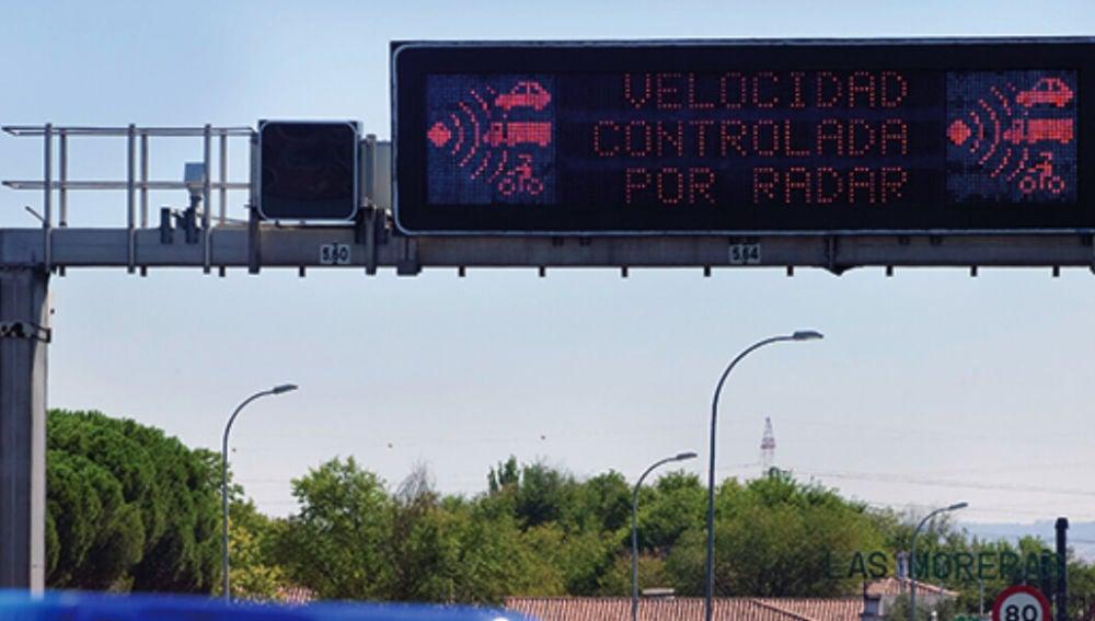 Panel de control de velocidad
