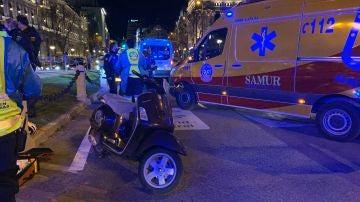 Fallece un motorista tras colisionar con otra motocicleta en Cibeles, en Madrid