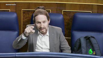 """La imitación de Joaquín Reyes a Pablo Iglesias, """"el bueno, no el fundador del PSOE"""": """"España se me queda pequeña"""""""