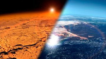 Gran parte del agua antigua de Marte quedo atrapada en su corteza no fue al espacio