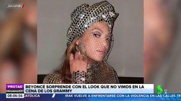 El impresionante look de Beyoncé que no vimos en la gala de los Grammy
