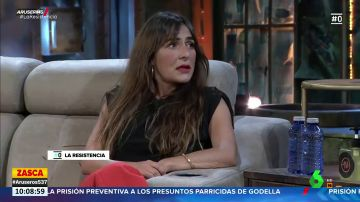 Candela Peña se enfada con Broncano en 'La Resistencia' por no ver ninguna de sus series