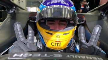 Fernando Alonso, feliz