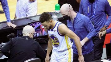Stephen Curry, en un partido de los Warriors
