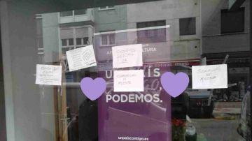 Podemos Gijón denuncia el ataque a su sede