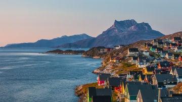Bello paisaje en Groenlandia