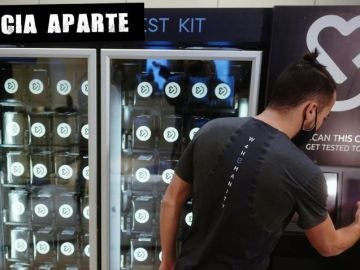 Máquina de vending con test rápidos en EEUU