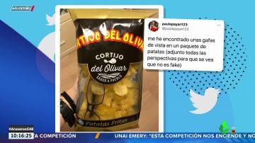 El misterio de las gafas que aparecieron dentro de una bolsa de patatas