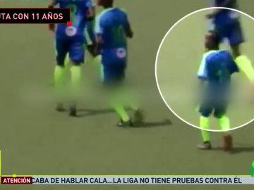 Un niño de 11 años debuta en el fútbol profesional de Liberia