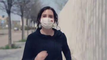 """El vídeo 'runner' de Ayuso de cara al 4M: """"Esfuerzo y libertad"""""""