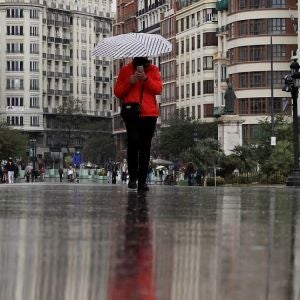 Imagen de lluvia en España
