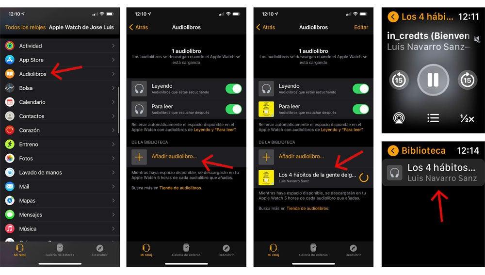 Cómo almacenar y escuchar audiolibros a través de tu Apple Watch (sin iPhone)