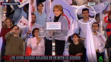 Imagen de Ignacio Aguado en un mitin de Esperanza Aguirre en 2003
