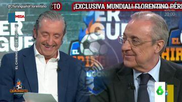 Los divertidos chascarrillos de Florentino Pérez a Josep Pedrerol en El Chiringuito