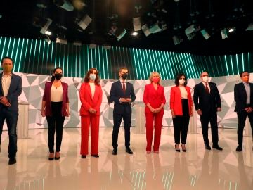 Los candidatos a la presidencia de la Comunidad de Madrid, en el debate