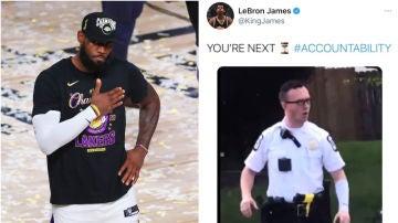 Tuit de LeBron James