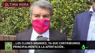 """Jugones (22-04-21) Laporta rompe su silencio y apoya a la Superliga: """"Es absolutamente necesaria"""""""