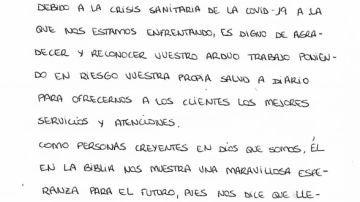 """LIDL recibe una emotiva carta de un matrimonio de vecinos: """"Es digno reconocer vuestro trabajo poniendo en riesgo vuestra propia salud"""""""