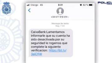 Alerta por un falso mensaje de Caixabank
