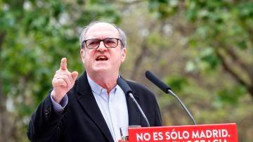 El candidato socialista a las elecciones de la Comunidad de Madrid, Ángel Gabilondo