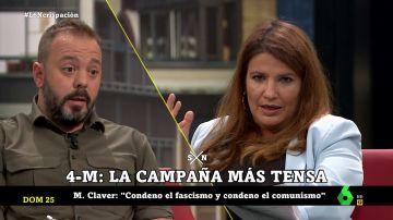 El tenso debate entre Antonio Maestre y María Claver en laSexta Noche