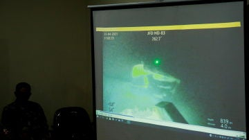 Imagen del submarino hundido en Indonesia