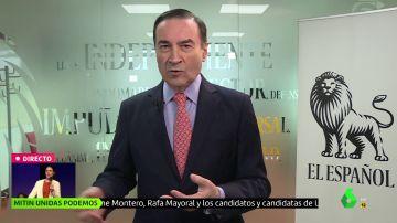 """Pedro J. Ramírez equipara a Vox y Podemos: """"Les gustaría que la democracia española saltara por los aires"""""""
