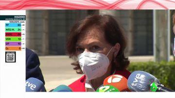 """Carmen Calvo alerta de que """"el fascismo aparece a veces con la bandera de la libertad"""""""