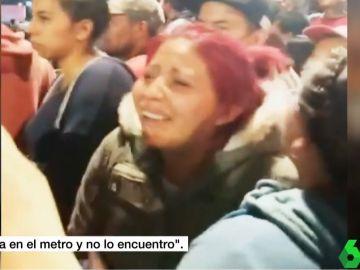 La madre del menor fallecido en el accidente del Metro de México