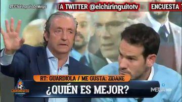 ¿Es mejor entrenador Zidane o Guardiola?: tenso cara a cara entre Pedrerol y Quim Domènech en 'El Chiringuito'