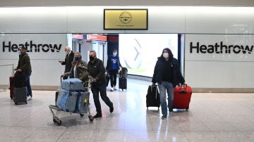Imagen de archivo de un aeropuerto británico