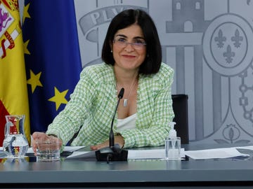 La ministra de Sanidad, Carolina Darias, comparece en rueda de prensa