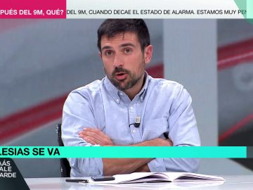 """Más Vale Tarde (05-05-21) Ramón Espinar critica las palabras de Monedero y pide reflexionar """"con humildad"""": """"Nos han pegado un bofetón de realidad"""""""