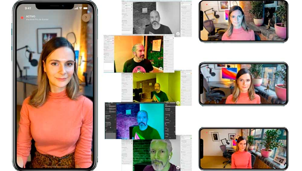 una aplicación que convierte un iPhone en webcam