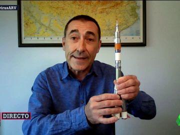 """Josep Corbella explica el funcionamiento de un cohete y asegura que """"lo más probable es que caiga en un océano"""""""