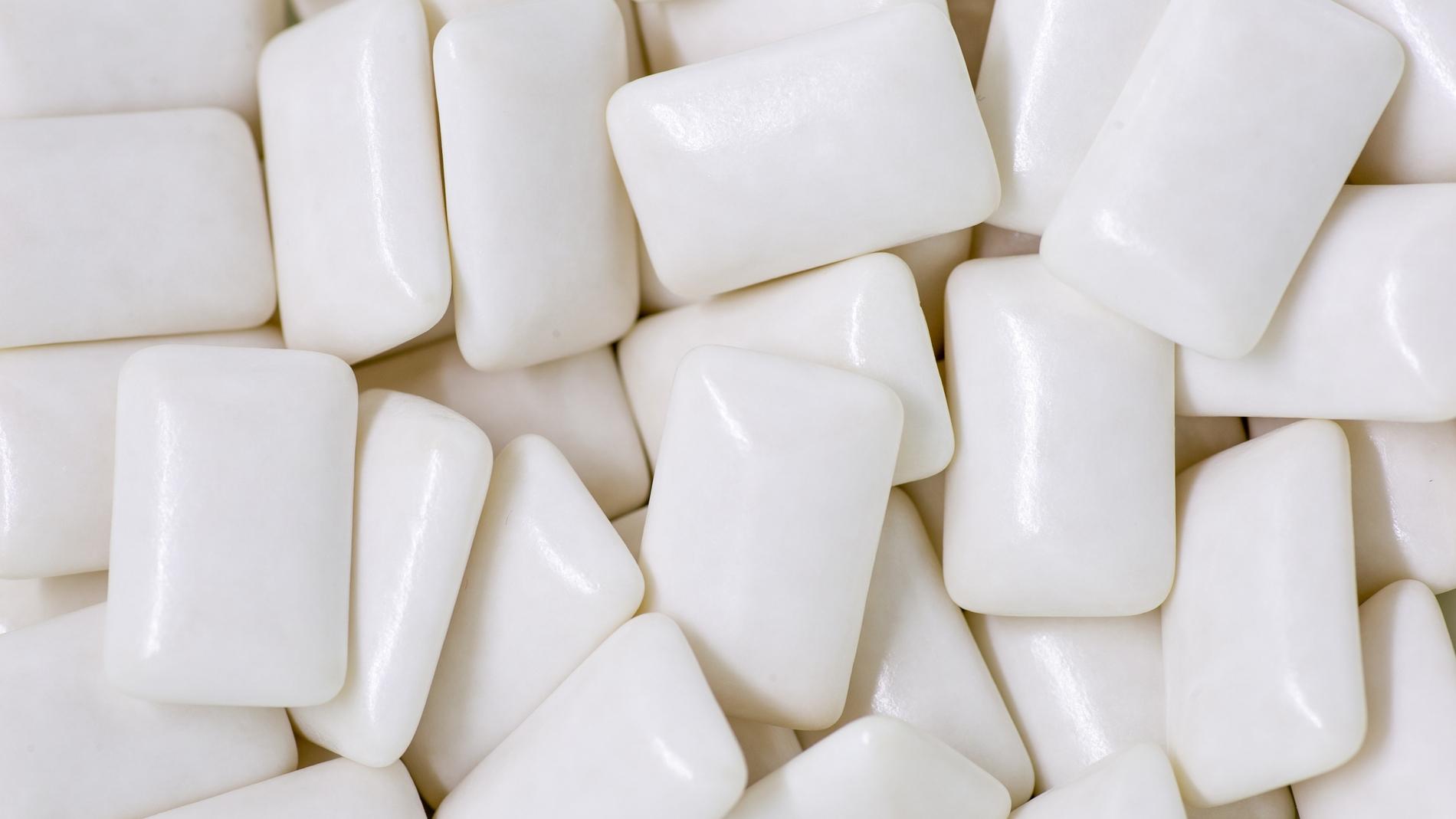 Chicles de color blanco