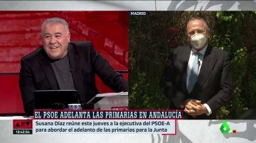 El divertido 'dardo' de Ferreras a Carmona por recordarle la derrota del Madrid en Champions