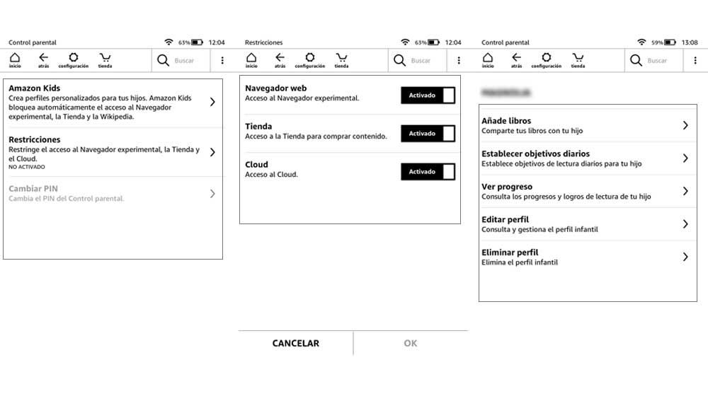 Crear y gestionar perfiles infantiles en Amazon Kindle