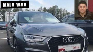 Imagen del presunto estafador y de uno de los coches que anunciaba