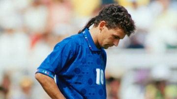 Roberto Baggio, en el Mundial de 1994