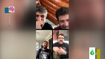 """La surrealista videollamada entre Estopa, Paco Tous y Pepón Nieto: """"Me he liado con los botones"""""""