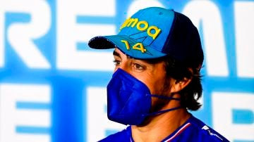 Fernando Alonso, en la rueda de prensa previa al Gran Premio de España