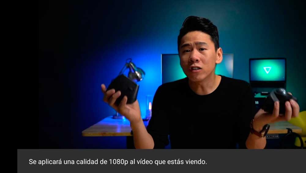 Selecciona la resolución para cada vídeo
