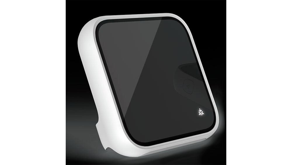 Un dispositivo con el icono de la plataforma