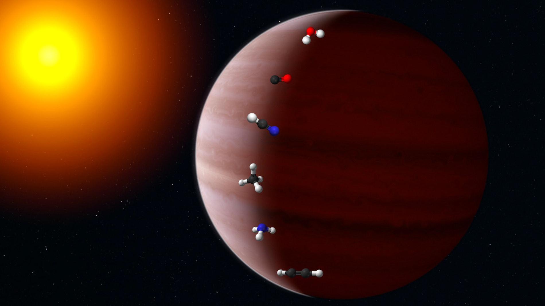 La migracion de un exoplaneta deja una huella quimica en su atmosfera