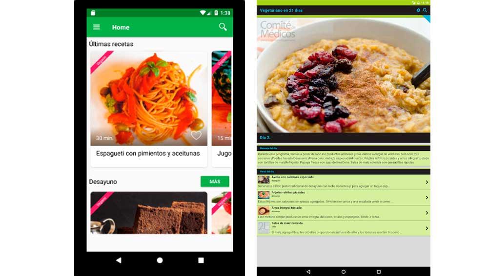 Apps de recetas veganas