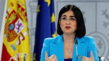 La ministra de Sanidad, Carolina Darias, comparece en rueda de prensa para informar de lo tratado en el Consejo Interterritorial de Salud