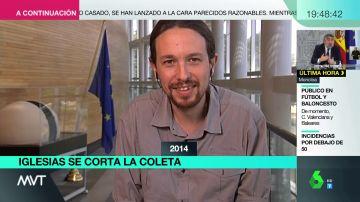 El nuevo look de Pablo Iglesias
